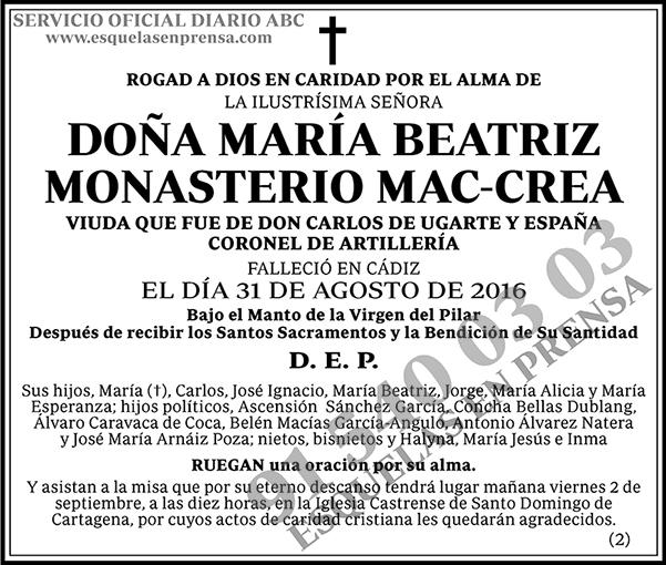 María Beatriz Monasterio Mac-Crea